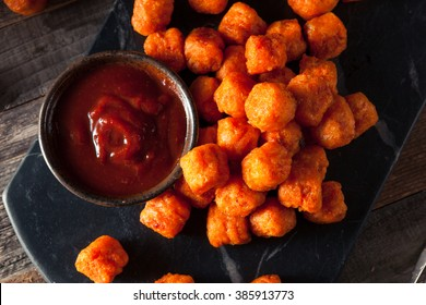 Homemade Sweet Potato Tater Tots with Ketchup