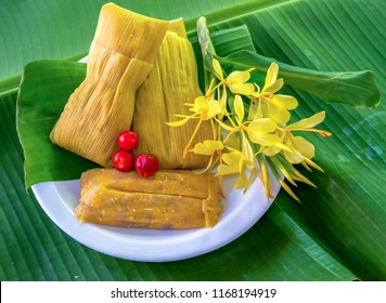 Homemade tamales are traditional in the Cuban cuisine
