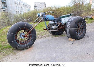 homemade three-wheeled all-terrain vehicle