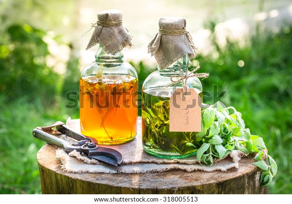 Homemade Tincture Alcohol Herbs Stock Photo (Edit Now) 318005513