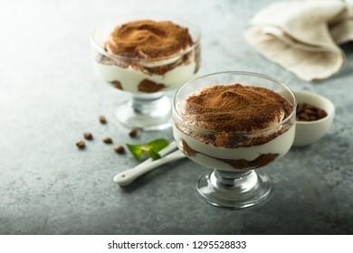 Homemade tiramisu dessert