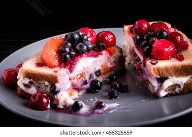 Homemade Toast with Berry Compote and Mascarpone. Quick and easy recipe for a toast that makes a great Snack, quick Breakfast or Dessert.