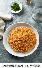 Homemade tomato risotto