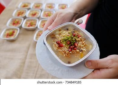 Homemade Traditional Turkish dessert ashure