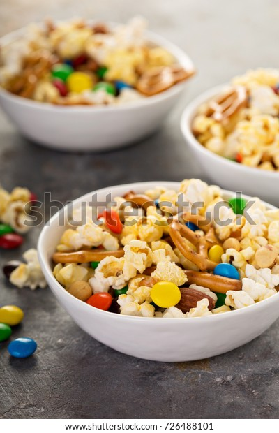 Homemade Trail Mix Kids Chocolate Candy Royalty Free Stock