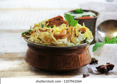 Homemade Tuna Fish Biryani in a traditional Brass pot / Ramadan Food