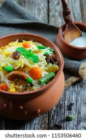 Homemade Vegetable Biryani / Veg Pilaf or Pulao