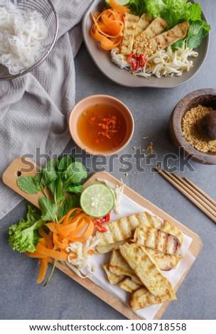 Homemade Vegetarian Meal Vietnamese Pho Lemongrass Stock Photo (Edit