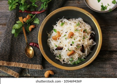 Homemade Vermicelli  Semiya Upma / Pulao -South Indian Breakfast top view