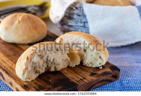 Homemade wheat rolls. Fresh bread. Homemade pastries. Cooking together and baking.
