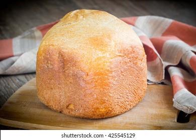 Homemade white bread with crispy crust, pastry dough, tatsy dish