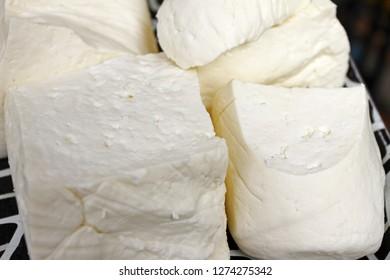 Homemade white brine cheese