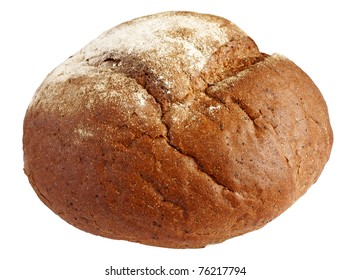 Homemade whole bread isolated on a white background