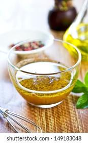 Homemade Whole grain mustard vinaigrette by fresh ingredients