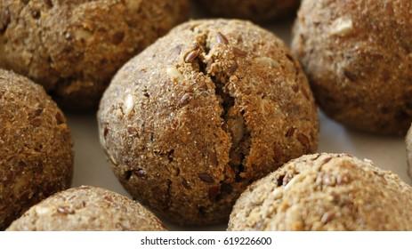 Homemade, Whole Wheat Bread Balls