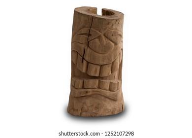 homemade wooden statue