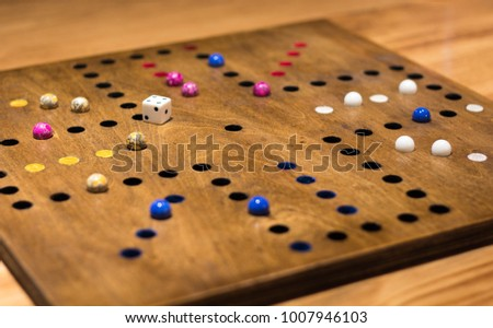 Homemade Wooden Wahoo Board Game Progress Stock Photo Edit Now Beauteous Homemade Wooden Board Games