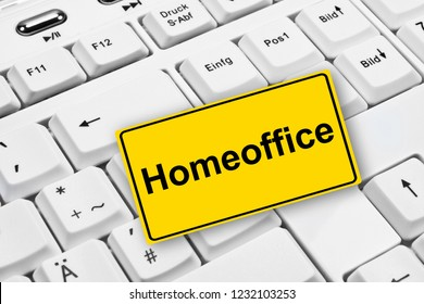 Homeoffice label and computer