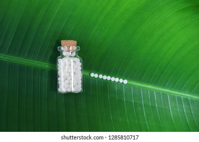 Homeopathic pills - A homeopathy concept with homeopathic medicine