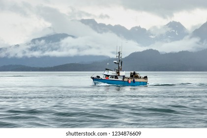 Alaska Fishing Boat Images, Stock Photos & Vectors