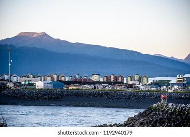 Homer Alaska Marina on Homer Spit Island