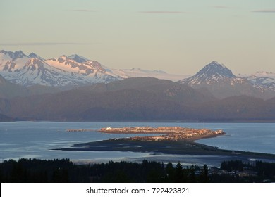 The Homer Spit - Homer, Alaska - Evening view