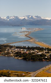 Homer Spit seen from above