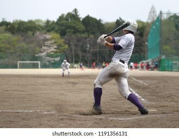 homerun batter at baseball game