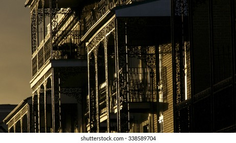 Homes in afternoon light in New Orleans