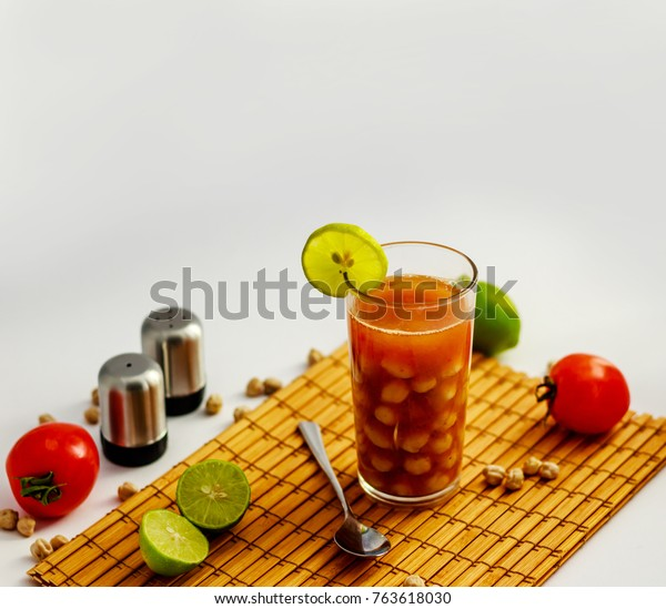 Homes Alsham Means Chickpeas Drink Traditional Stock Photo