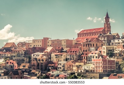 Homes of Antananarivo, the capital city of the island of Madagascar