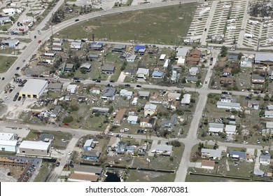 homes damaged by Hurricane Harvey in Port Aransas