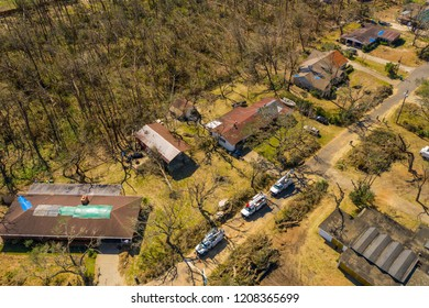 Homes neighborhoods destroyed Hurricane Michael disaster aftermath