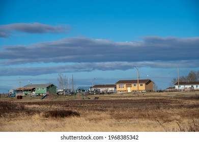 Homes on the Siksika Nation reservation in Alberta.