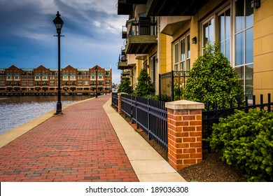 Homes on the waterfront in Fells Point, Baltimore, Maryland.