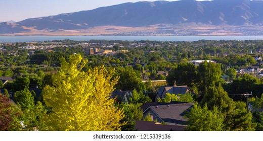 Homes with Utah lake and mountain in Orem Utah