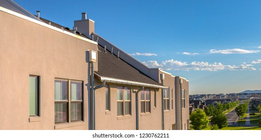 Homes with view of road and sky in Daybreak Utah