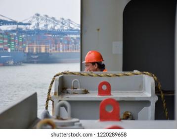 Homesick sailor /Nansha port, Sept. 2018