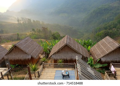Homestay camping and tent at Doi Luang Chiang Dao, High mountain in Chiang Mai Province, Thailand.