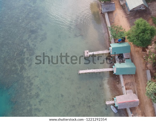 Homestays view at Kiluan Bay Lampung, Indonesia. A comfortable place to enjoy the beauty of Kiluan Bay with dolphins