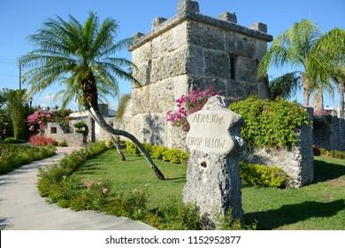 Homestead, FL - May 19, 2018: Coral Castle Museum near Miami