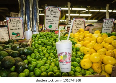 Homestead, FL / USA - 02-14-2015:Robert Is Here, an iconic South Dade farm stand, is a South Florida institution. The  tourist attraction is best known for its fruit milkshakes.