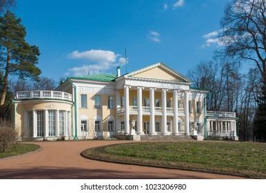 Homestead Gorki, Gorki Lenin (Museum-Reserve)  in spring, Moscow region, Russia