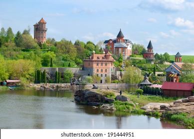 homestead on riverside, village Buki, Ukraine