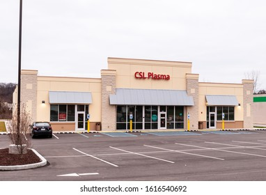Homestead, Pennsylvania, USA 1/12/20 CSL Plasma, a donation center for plasma donors