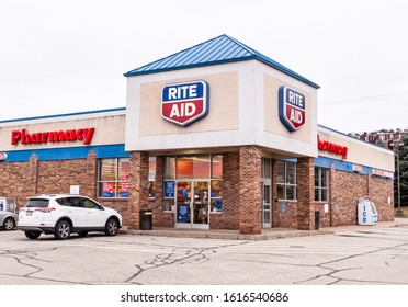 Homestead, Pennsylvania, USA 1/12/20 The Rite Aid Pharmacy, a retail chain throughout the country