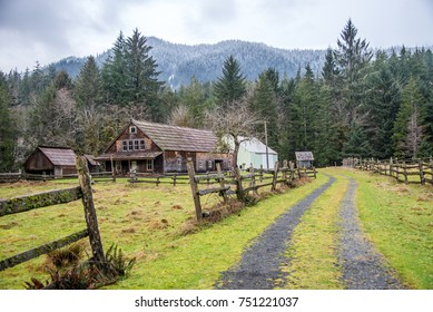 Homestead in Quinault Valley, Olympic National Park, WA