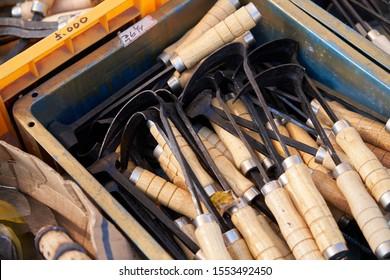 Homi, a farming tool made by a Korean blacksmith