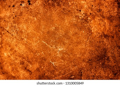 Homogeneous surface of concrete, plaster painted in terracotta orange. Abstract natural texture for decoration, banners