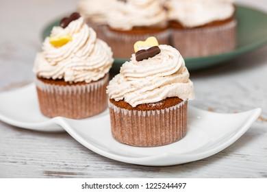 Homomade freshly baked chestnut muffins